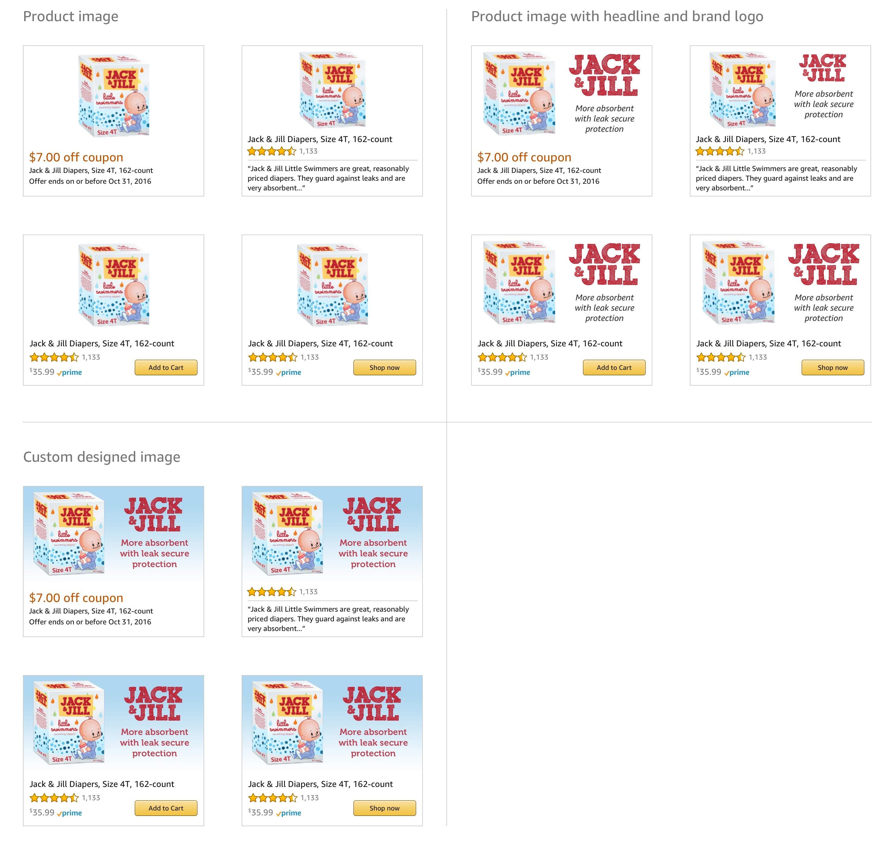 Dynamic eCommerce Ads, 300x250 onsite