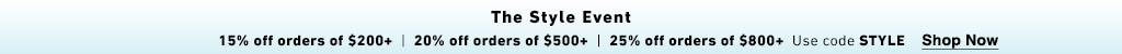 Shop The Style Event. Use code STYLE.