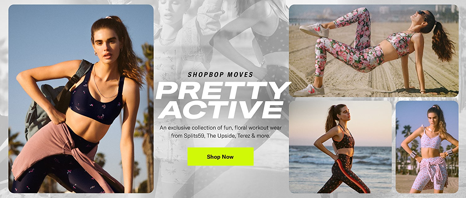 Shop Activewear Floral. An exclusive collection of fun, floral workout wear.