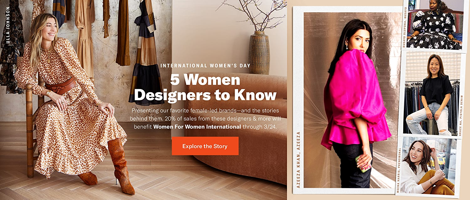 Shop 5 Women Designers to Know. Our favorite female-led brands.
