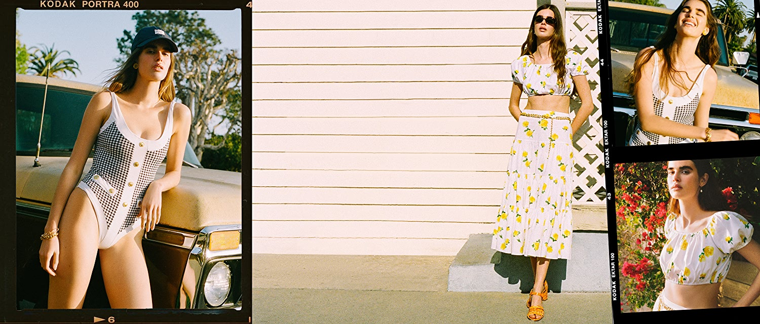 Hello, Sunshine, From Standout swimwear to floral two-pieces: it's the latest from Caroline Constas.
