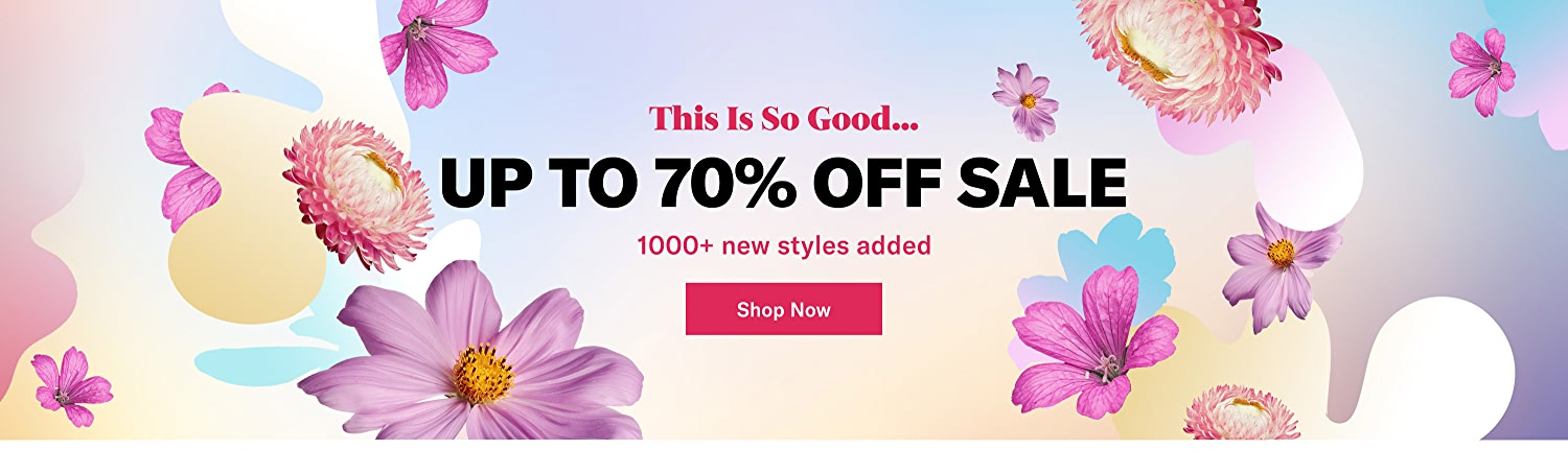 Sale! Up to 70% off. Shop now.