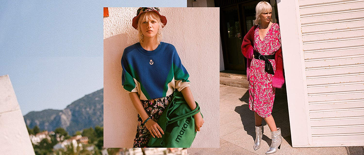 Shop Old-school pullovers, slouchy trousers, beachy buckets… the latest from Isabel Marant.
