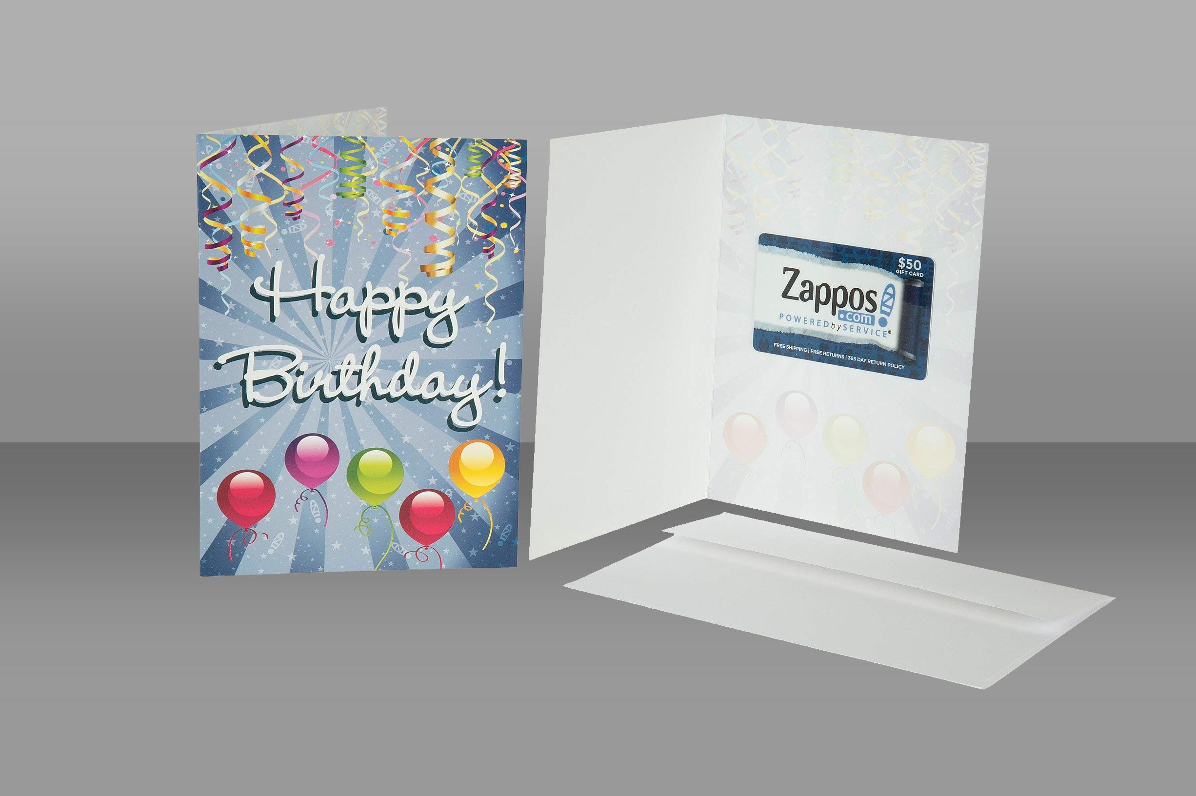 Image for a Zappos Gift Card inside of a Zappos Birthday Card
