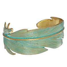Image of a leaf-shaped cuff bracelet