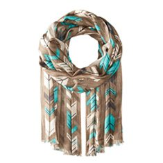 Image of a chevron printed scarf