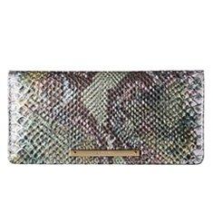 Image of a blue-green croco wallet