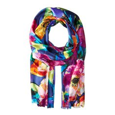 Image of a floral printed scarf