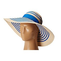 Image of a blue striped sunhat