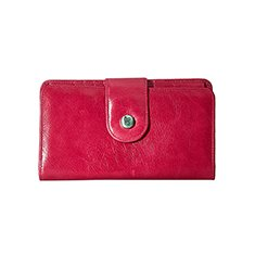 Image of a red leather wallet
