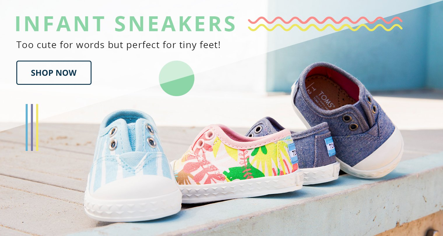 Infant Sneakers. Too cute for words but perfect for tiny feet! Shop Now.