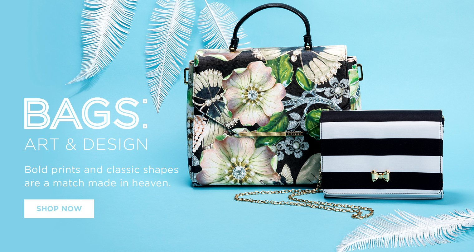 Bags: Art and Design: Bold prints and classic shapes are a match made in heaven.