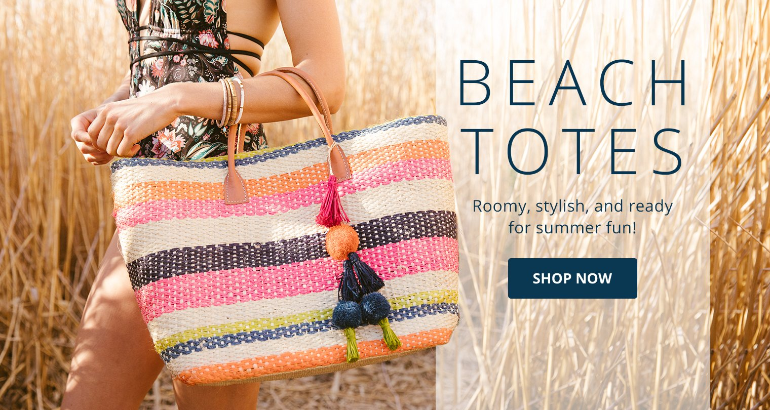 Beach Totes: Roomy, stylish, and ready for summer fun.