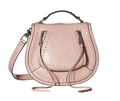 Image of a pink Rebecca Minkoff Saddle Bag