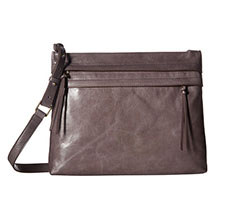 Image of a grey Hobo bag