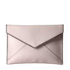Image of a cream envelope clutch