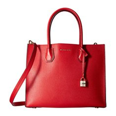 Image of a red  Michael Kors tote