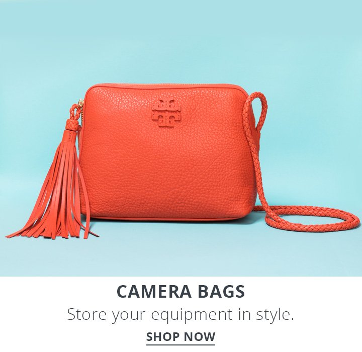 Camera bags. Store your equipment in style. Shop Now.