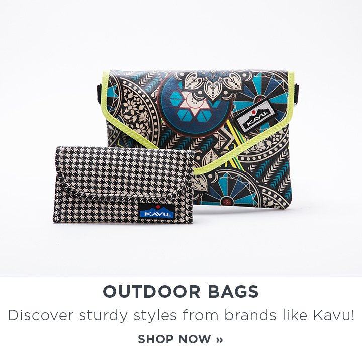 Outdoor Bags: Discover sturdy styles from brands like Kavu. Shop Now!