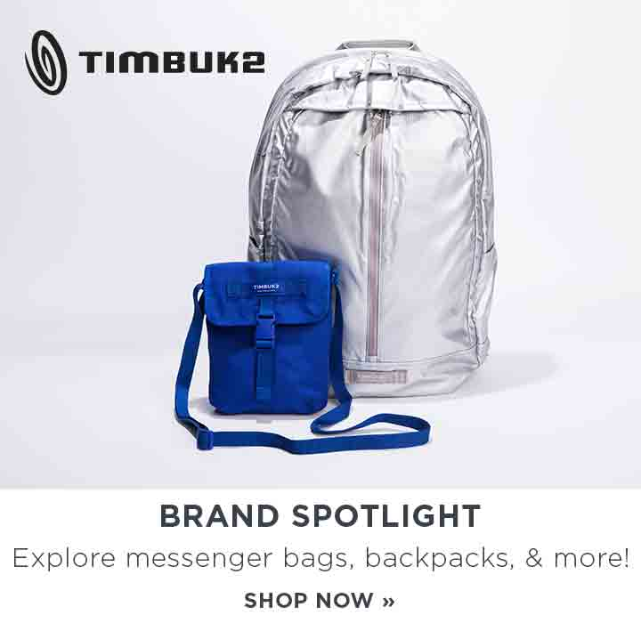 Timbuk 2 brand spotlight. Exlpore messenger bags, backpacks, and more! Shop Now.