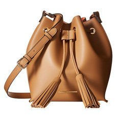 Image of a brown bucket bag
