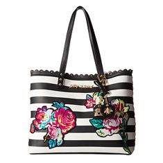Image of a striped floral bag