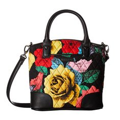 Image of a quilted floral bag