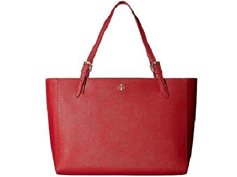 Image of leather red tote bag. links to other leather red bags.