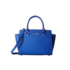 Image of a blue tote bag