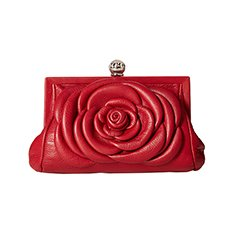 Image of a red floral shaped bag