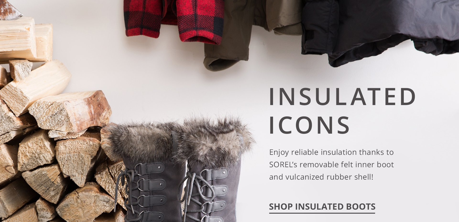 Insulated icons. Enjoy reliable insulation thanks to SOREL's removable felt inner boot and vulcanized runner shell.