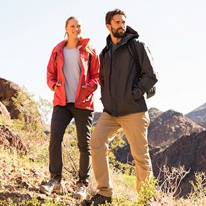 Image of man and woman hiking.