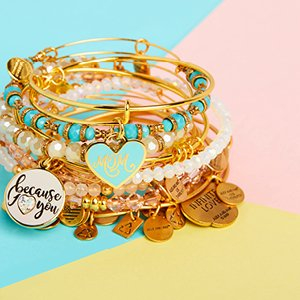 Image of Alex and Ani bangles.