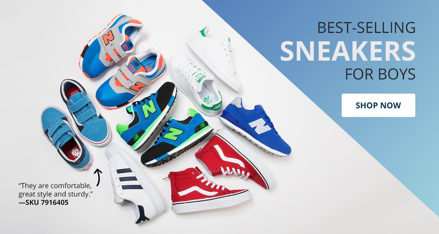 Best Selling Sneakers for boys. Shop Now.