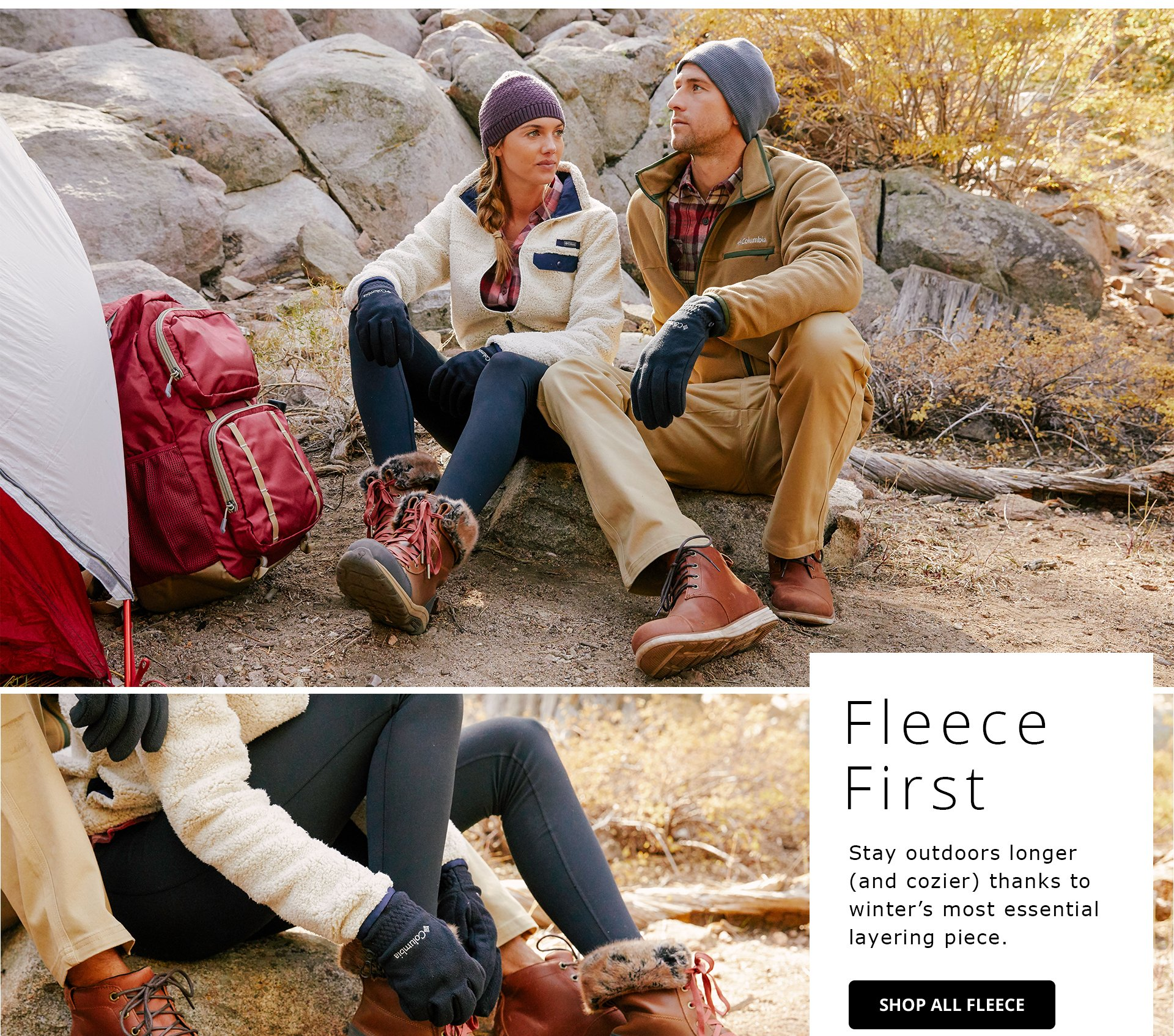 Fleece First. Stay cooler longer (and cozier) thanks to winter's most essential layering piece. Shop All Fleece.