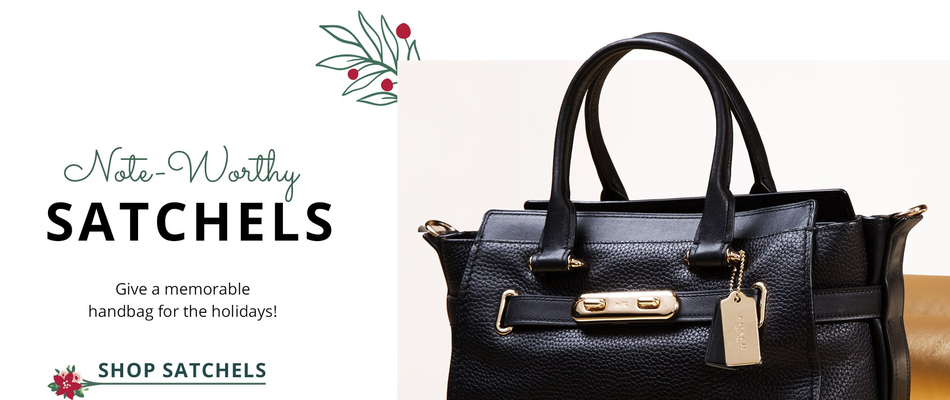 Note-worthy Satchels. Give a memorable handbag for the holidays. Shop Satchels.