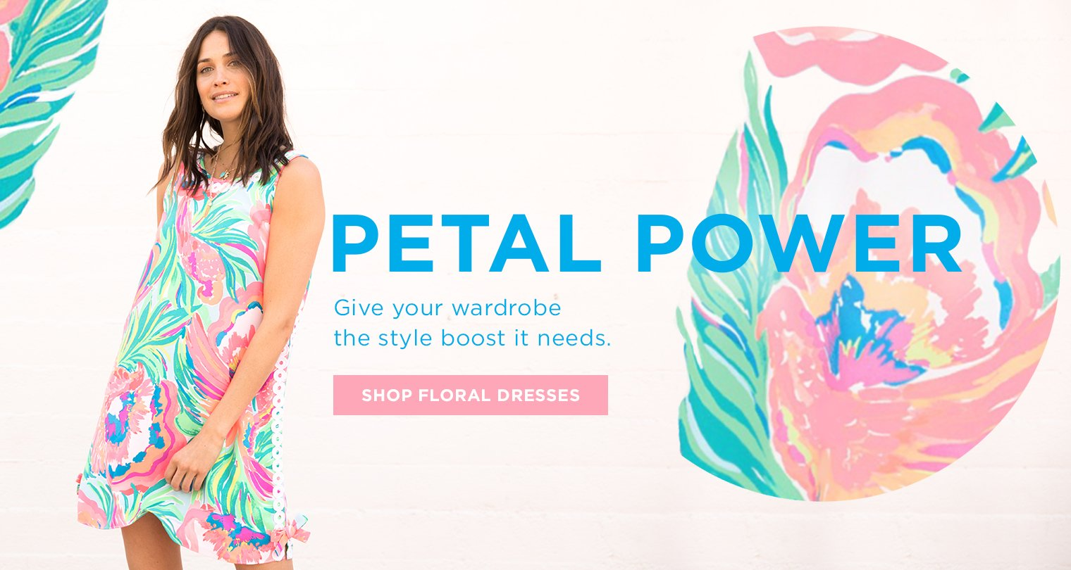 Petal Power. Give your wardrobe the style boost it needs. Shop Now.