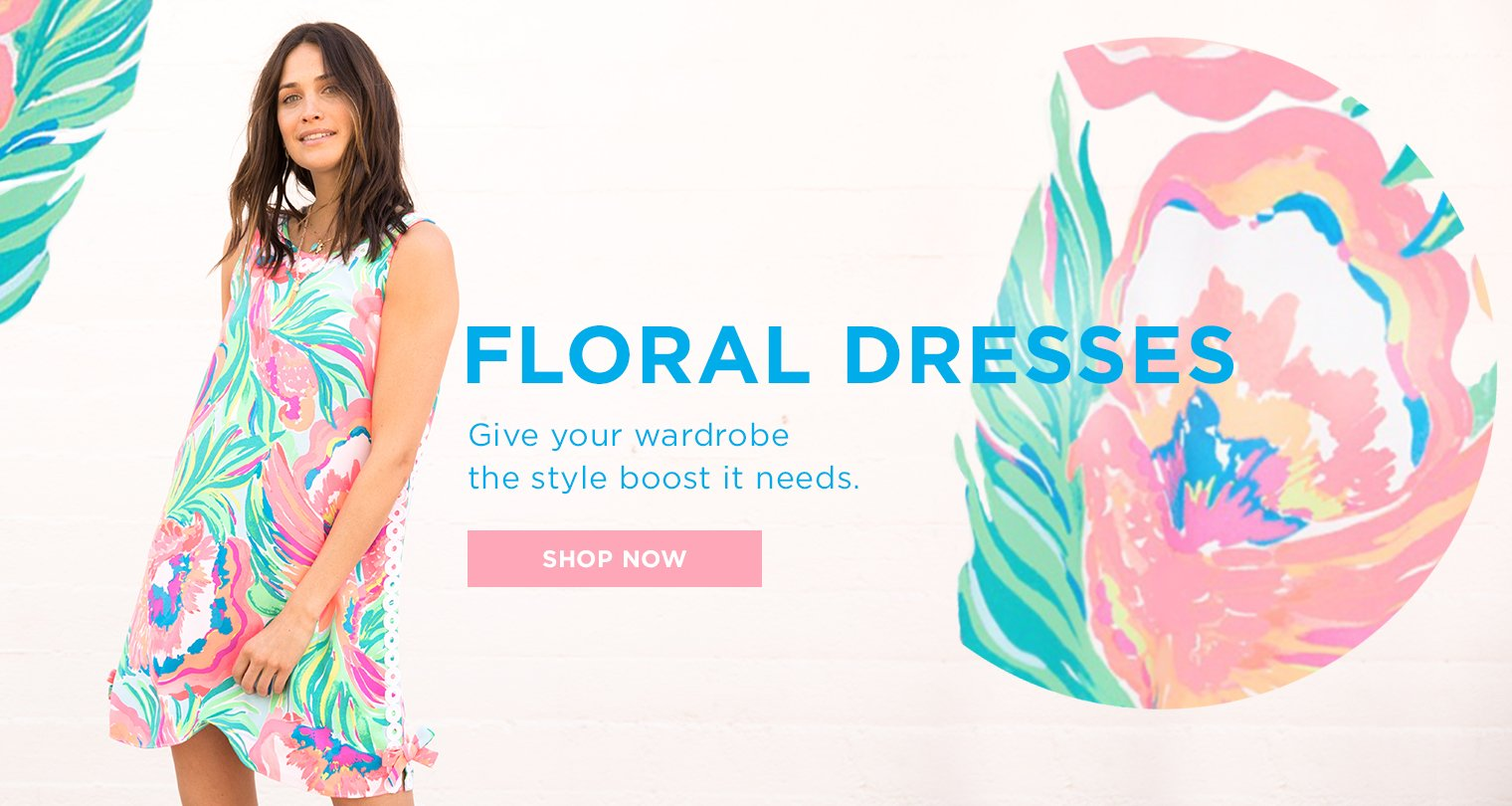 Floral Dresses. Give your wardrobe the style boost it needs. Shop Now.
