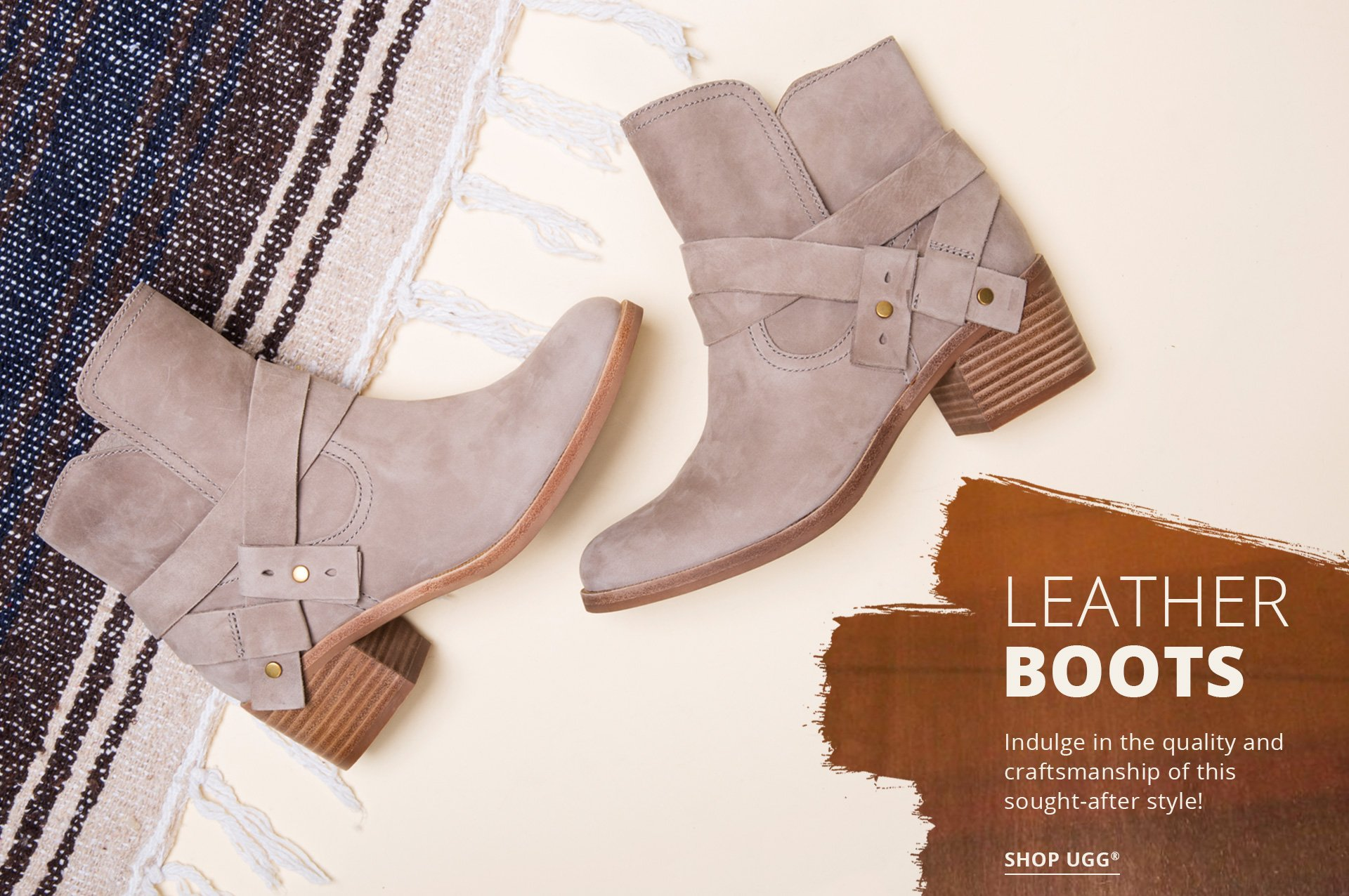 Leather Boots. Indulge in the quality and craftsmanship of this sought-after style! Shop UGG