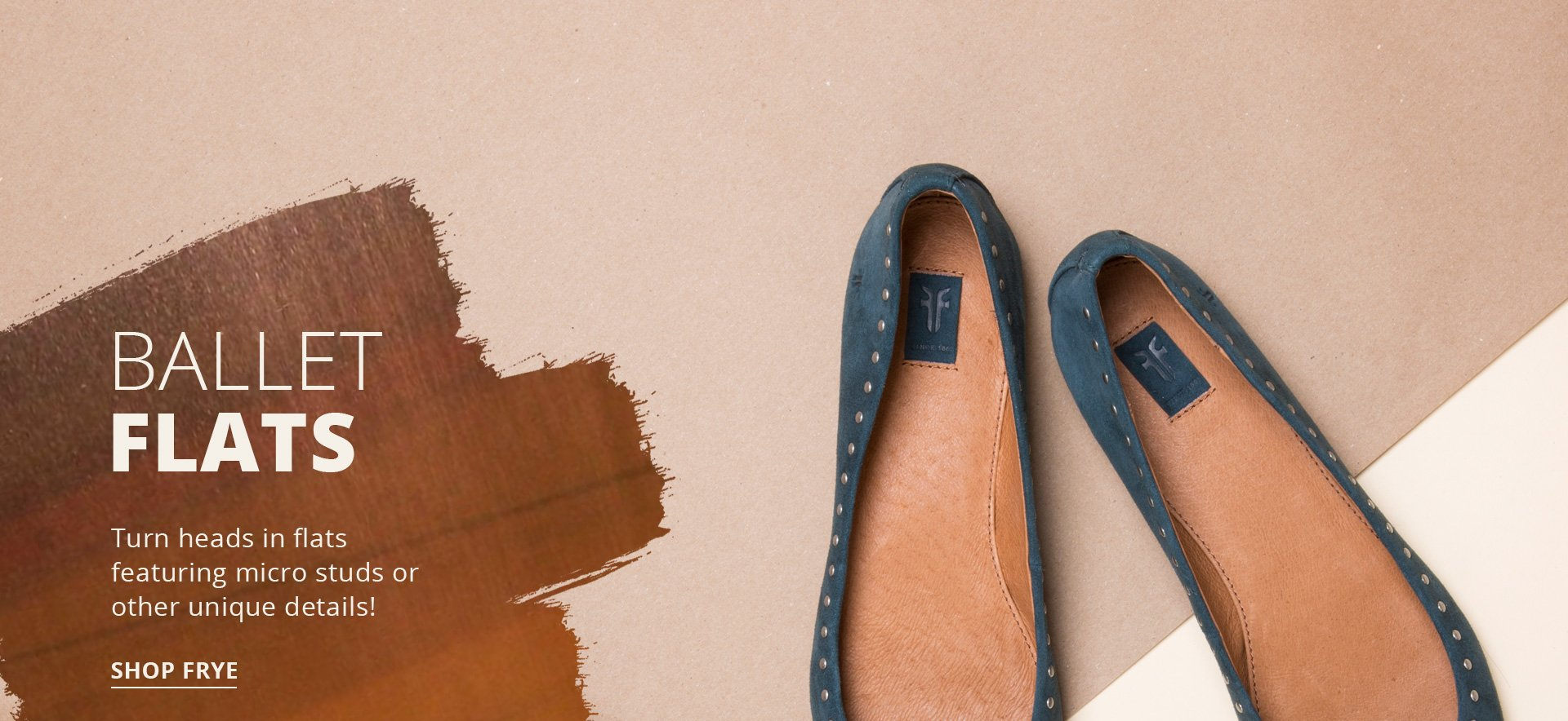Ballet Flats. Turn heads in flats featuring micro studs or other unique details! Shop Frye.
