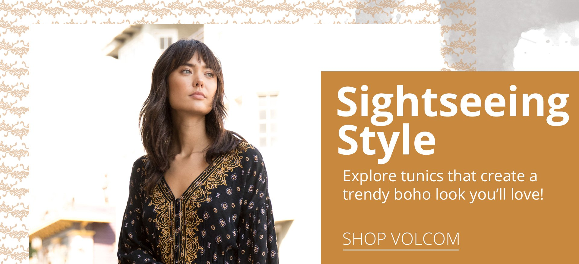 Sightseeing style. Explore tunics that create a trendy boho look you'll love.