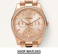 Clickable image of a gold Fossil watch
