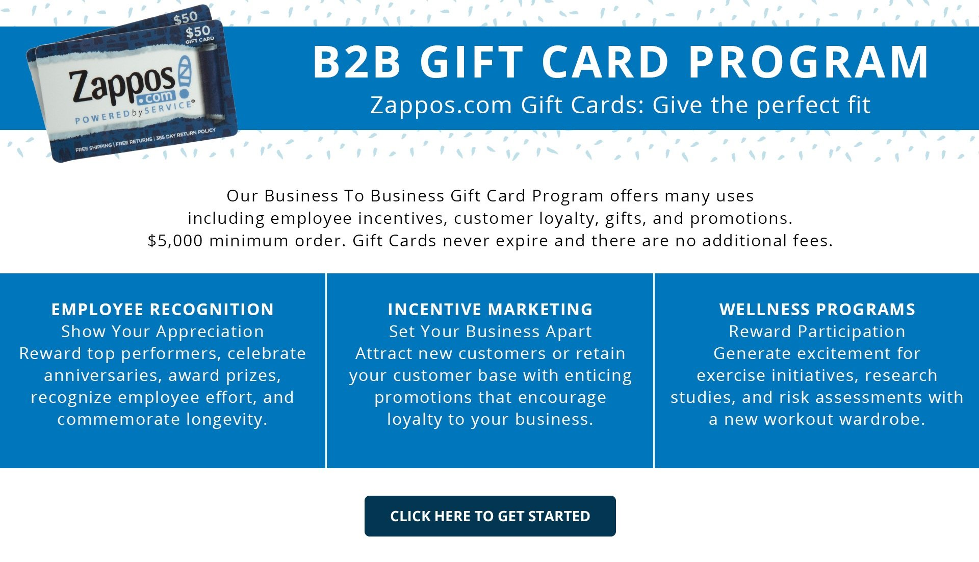 Zappos business to business gift card program zappos b2b gift card program colourmoves