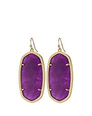 Image of purple drop earrings