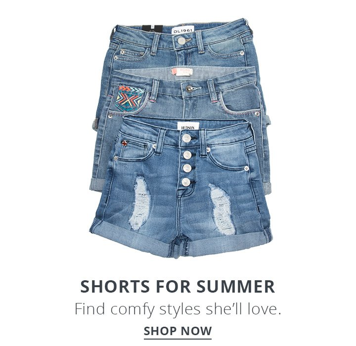 Shorts for summer. Find comfy styles she'll love. Shop Now.