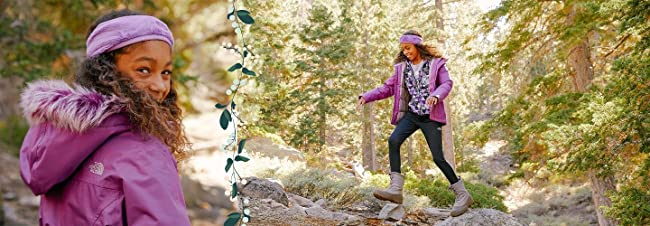 image of girl in the North Face outerwear. Image links to selection of girls the north face outerwear.