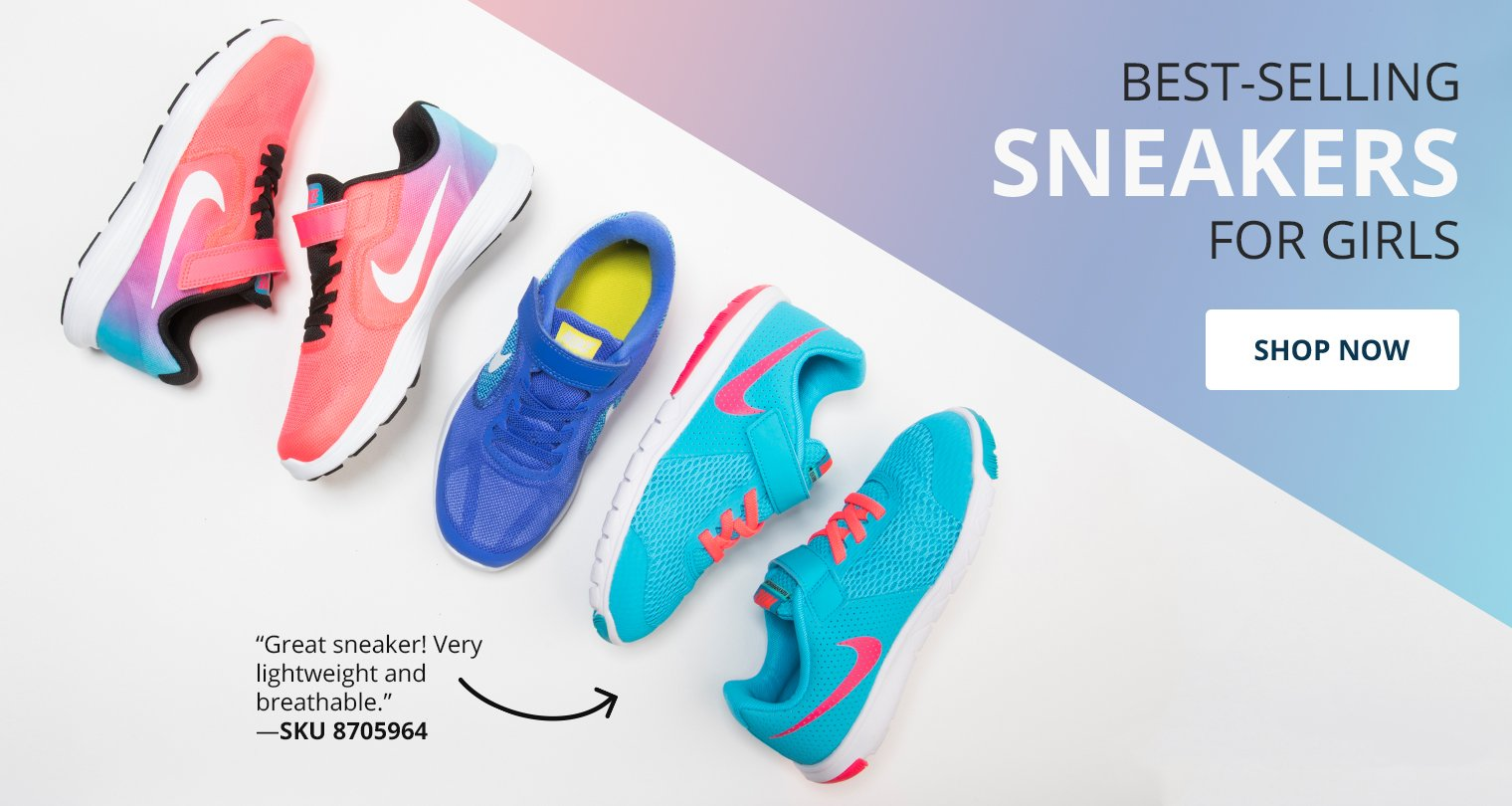 Best Selling sneakers for girls. Shop now.