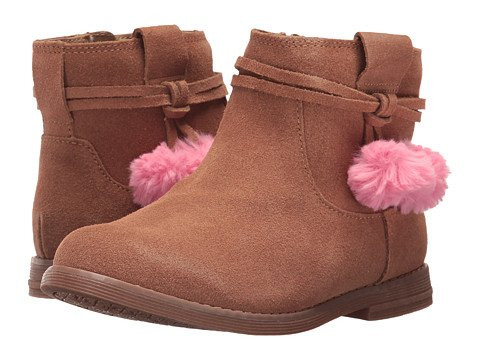 Girls Brown Suede Booties New Arrivals