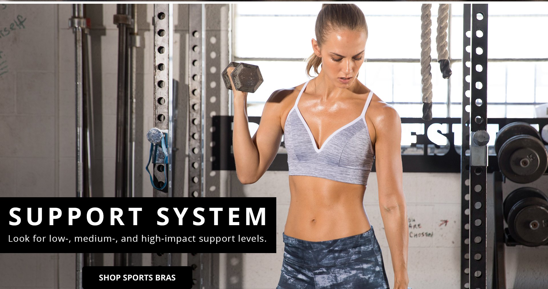 Support System. Look for low, medium, and high-impact support levels. Shop Sports bras