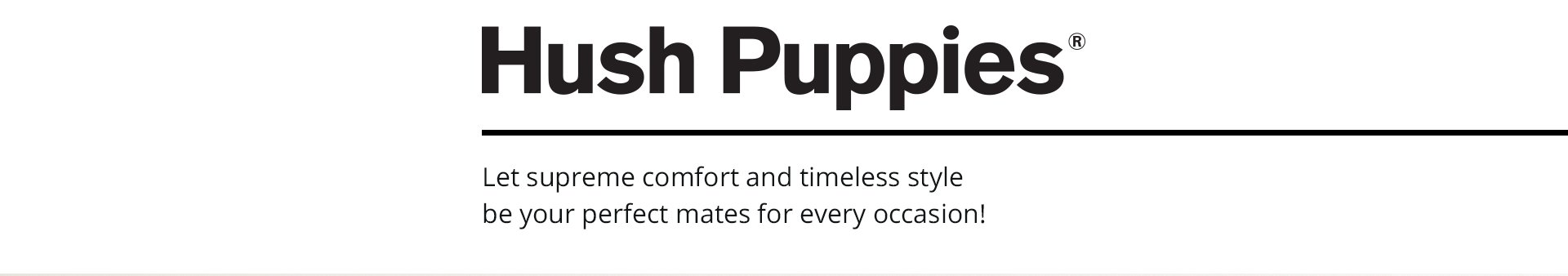 Hush Puppies header